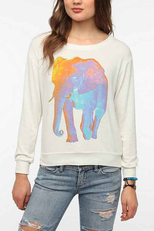 Truly Madly Deeply Psychedelic Elephant Long-Sleeve Tee