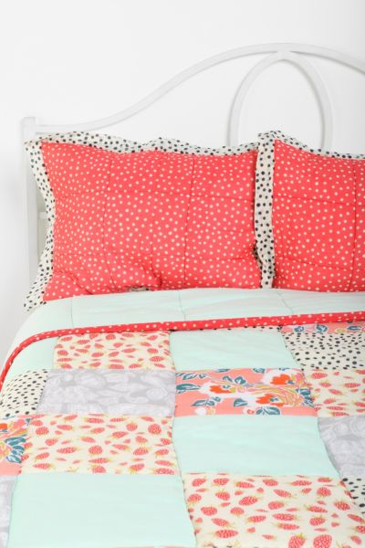 Plum & Bow Strawberry Dot Sham - Set Of 2
