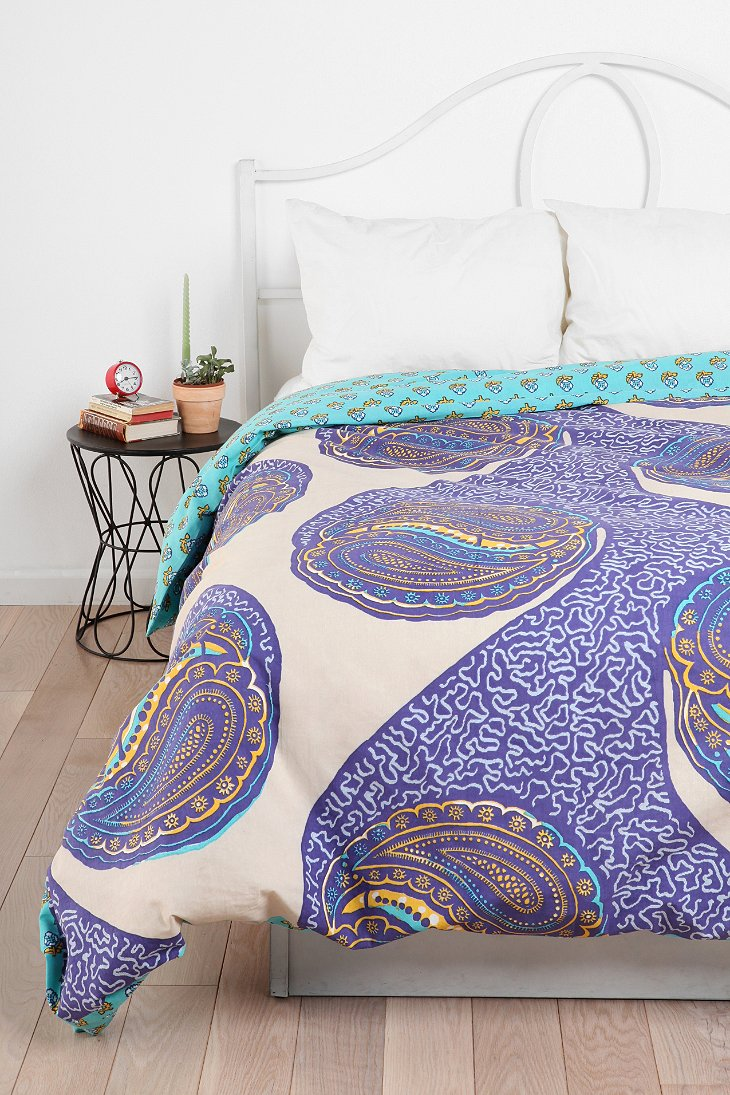 Magical thinking paisley harmony reversible duvet cover Magical thinking bedding
