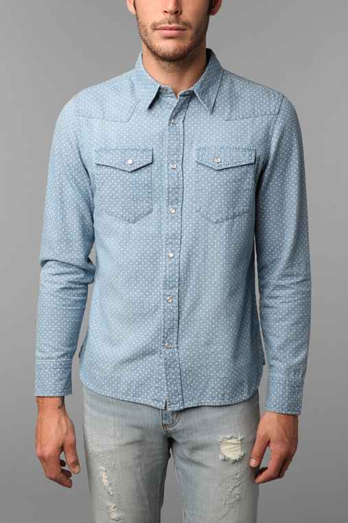 Salt Valley Denim Polka Dot Western Shirt