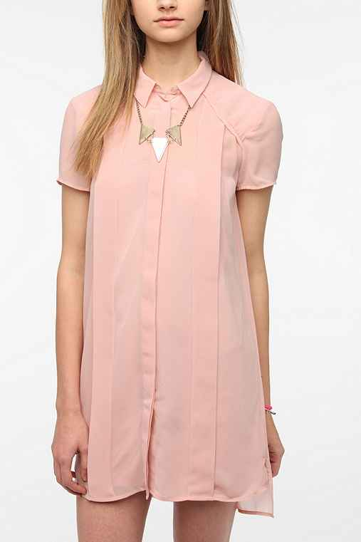 Sparkle & Fade Chiffon Frock Shirtdress