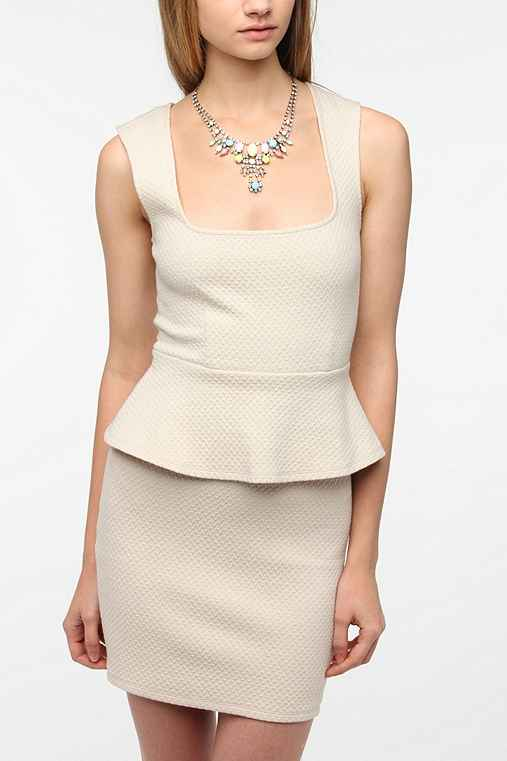 Pins and Needles Popcorn Knit Peplum Dress