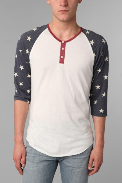 ALTERNATIVE 2-Tone Patterned Henley