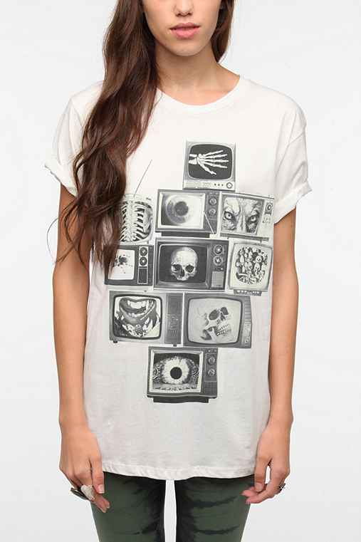 Corner Shop Skulls & TV Screens Tee