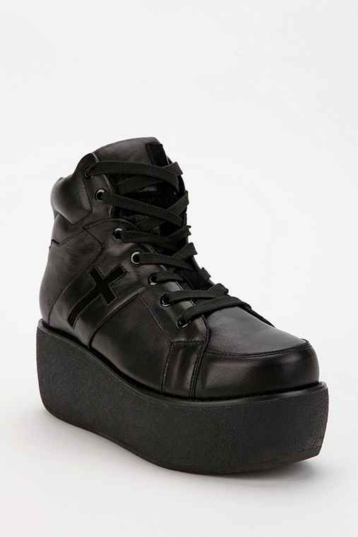 UNIF Leather Cross Trainer Platform-Sneaker
