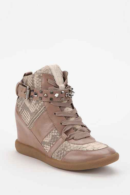 Sam Edelman Brogan Stud Hidden Wedge High-Top Sneaker
