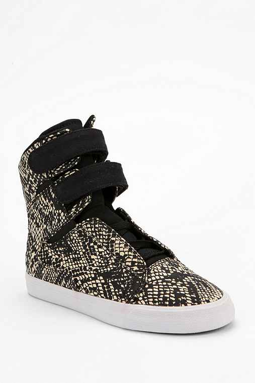 SUPRA Society Snake Canvas High-Top Sneaker