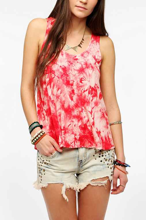 Staring At Stars Tie-Dye Crochet-Back Tank Top