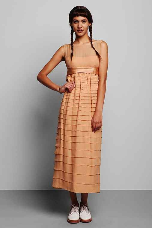 Vintage '60s Nude Party Dress