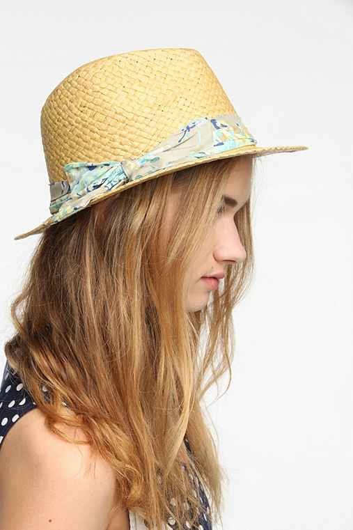 Floral Bow Trilby Hat