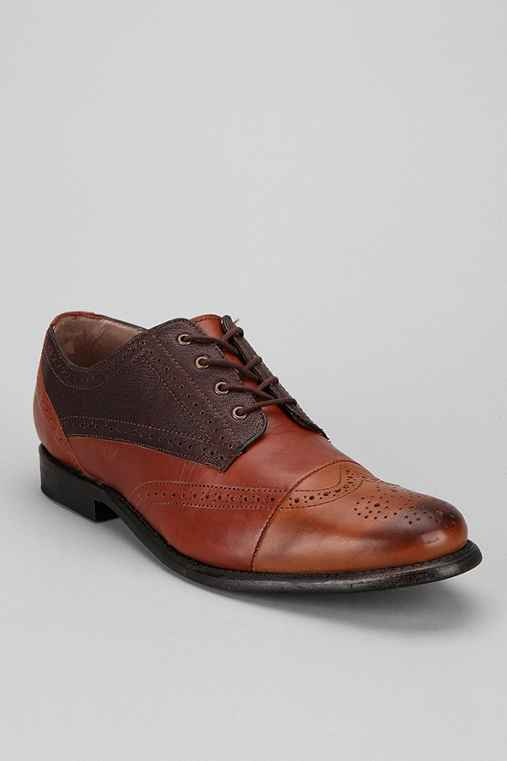 JD Fisk Ennis Capped Brogue Shoe