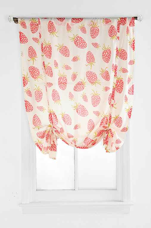Plum & Bow Strawberry Draped Shade Curtain