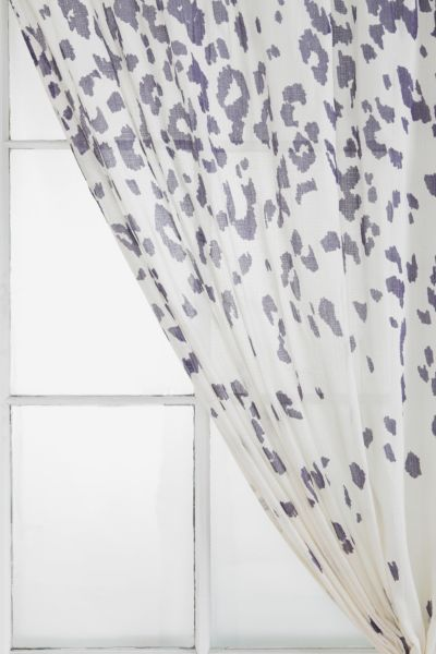 Magical Thinking Falling Leopard Print Curtain