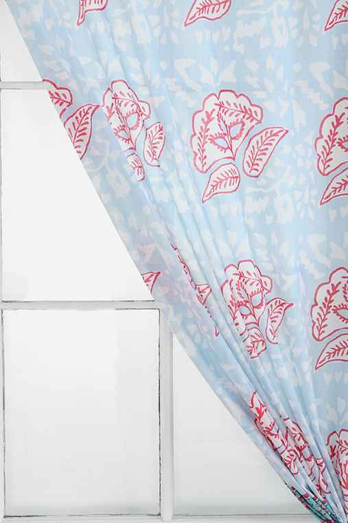 Magical Thinking Stamped Flower Curtain