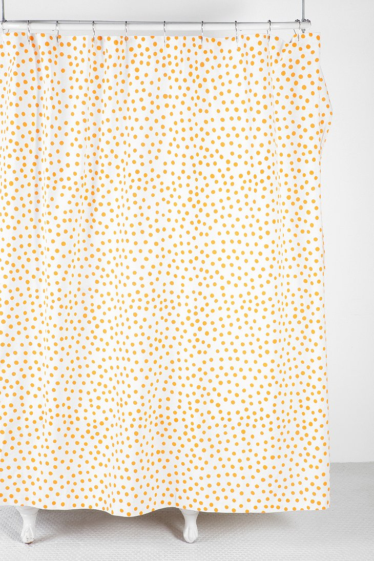Plum Bow Polka Dot Shower Curtain Urban Outfitters