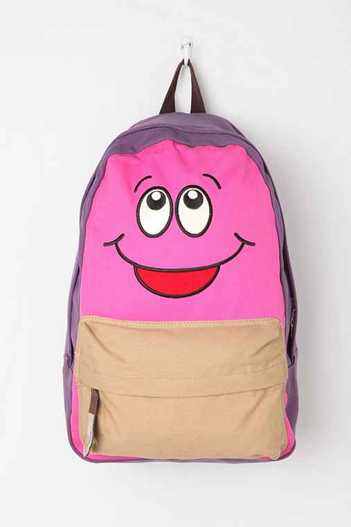 Carrot Happy-Go-Lucky Colorblock Canvas Backpack