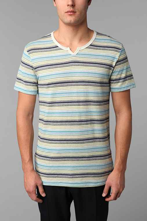 Alternative Banded-Neck Henley Tee