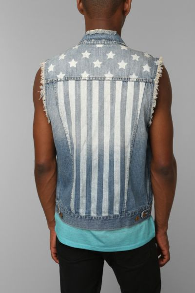 Standard Cloth USA Flag Print Vest
