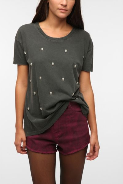Truly Madly Deeply Metallic Skull Tee