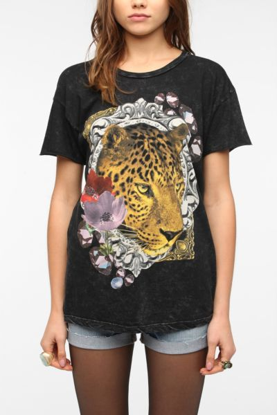 Truly Madly Deeply Leopard Flower Tee