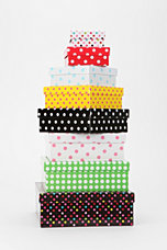 Polka Dot Storage Box - Set Of 8