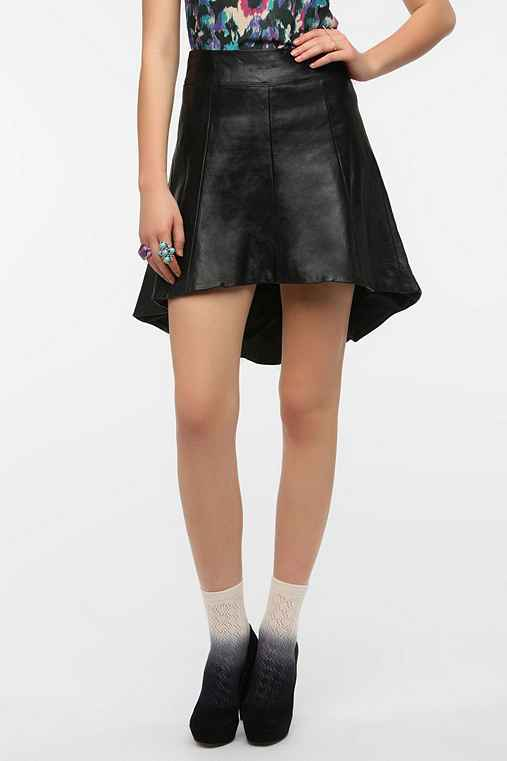Dress The Population Madison Leather Skirt