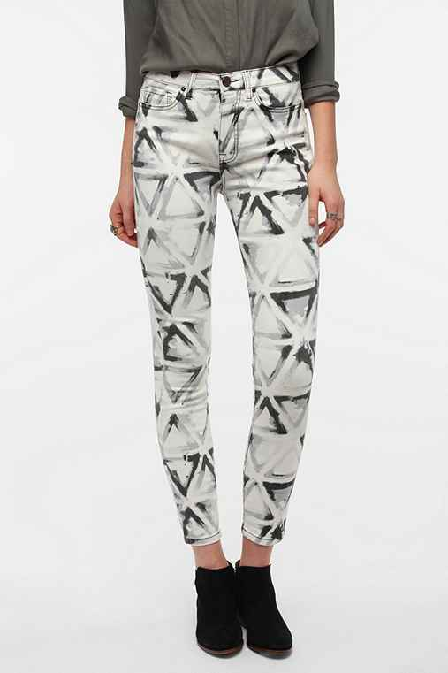 BDG Twig High-Rise Jean - Abstract Geo Print