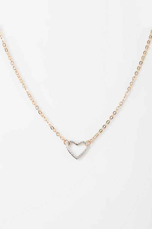 Delicate Open Heart Necklace