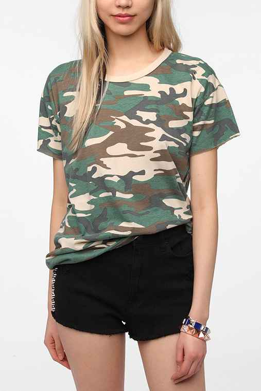 Truly Madly Deeply Camo Boyfriend Tee