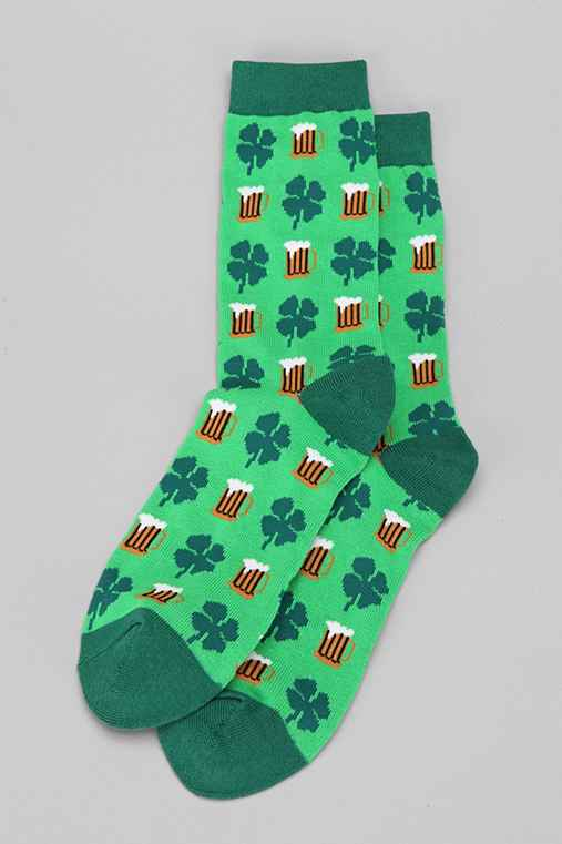 Beer Leaf Clover Sock