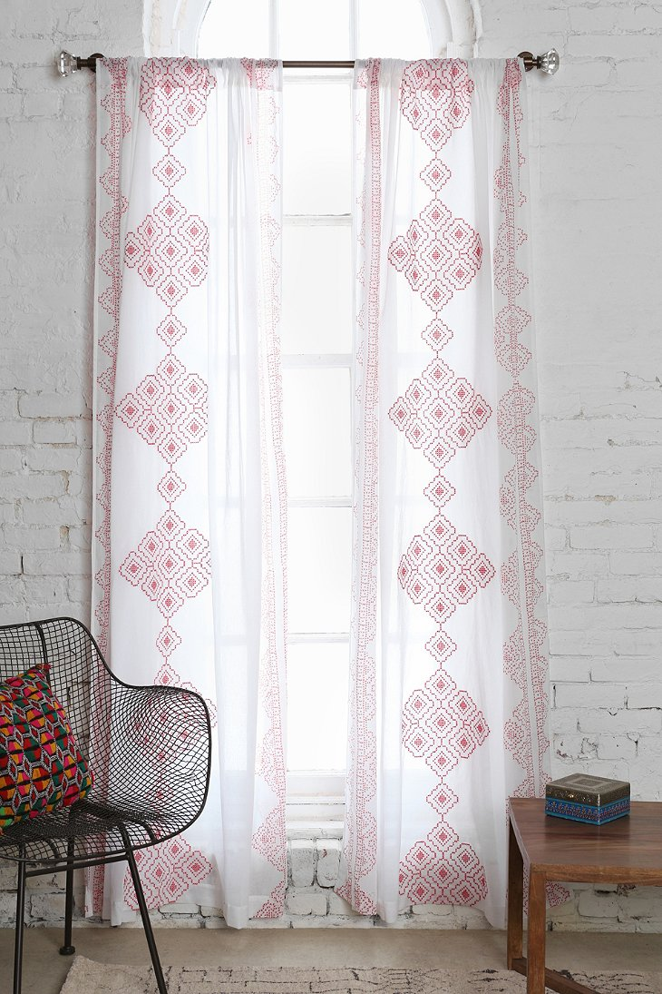 Magical Thinking Embroidered Diamond Curtain Urban Outfitters