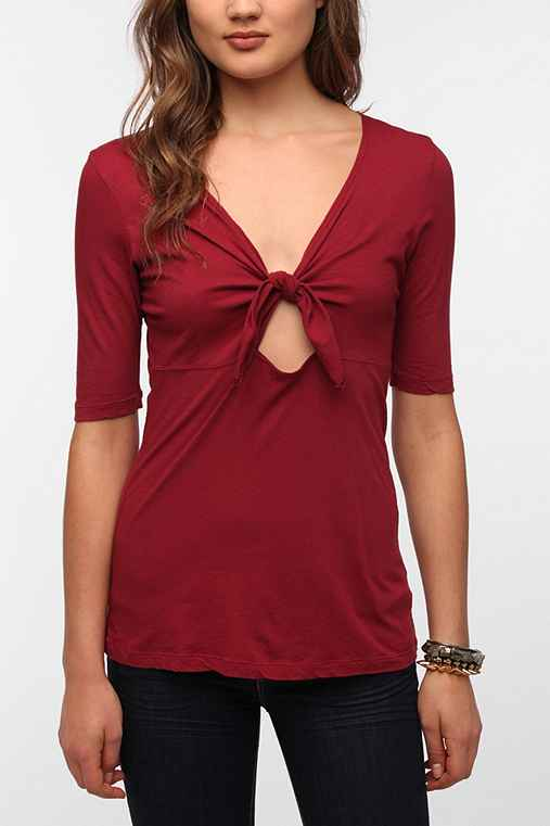 Truly Madly Deeply Tie Bodice Tee
