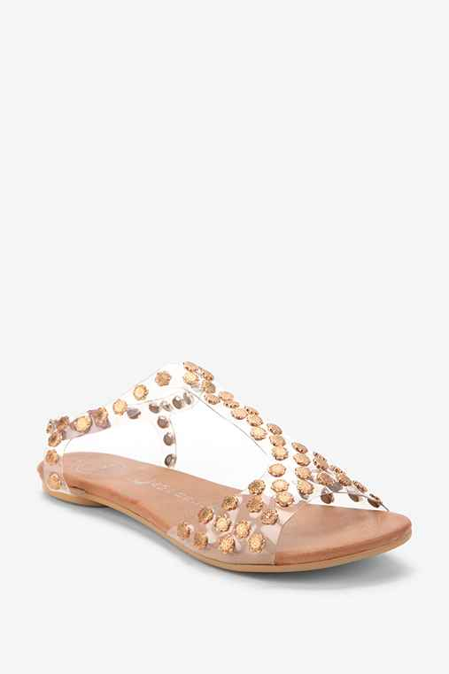 Jeffrey Campbell Metal Flower Puffer Sandal