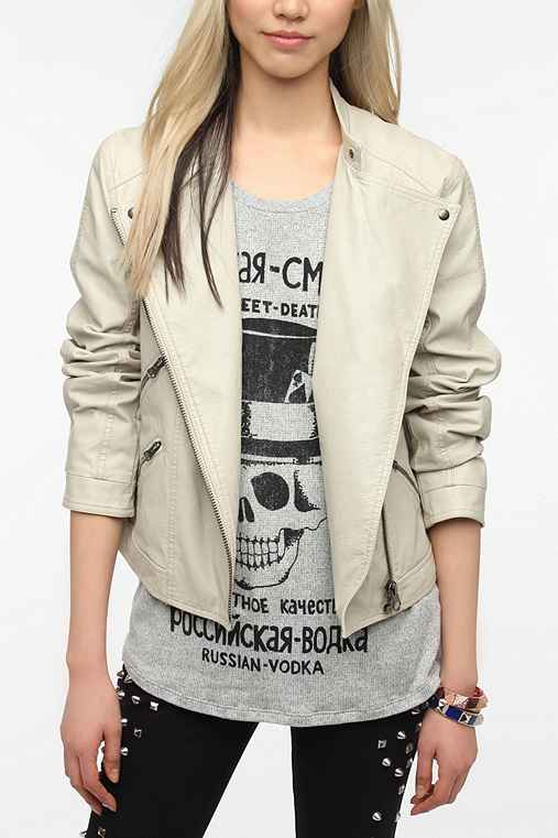 Silence & Noise Bellweather Faux Leather Moto Jacket