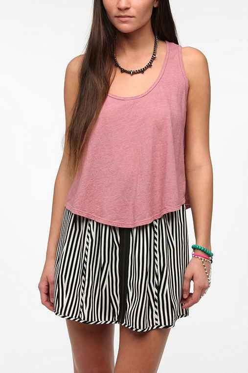 Truly Madly Deeply Cropped Swing Tank Top
