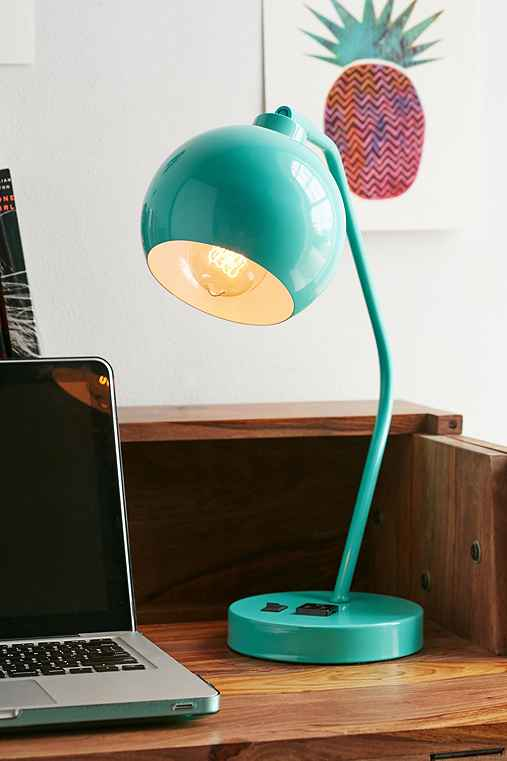 Gumball Desk Lamp,TURQUOISE,ONE SIZE