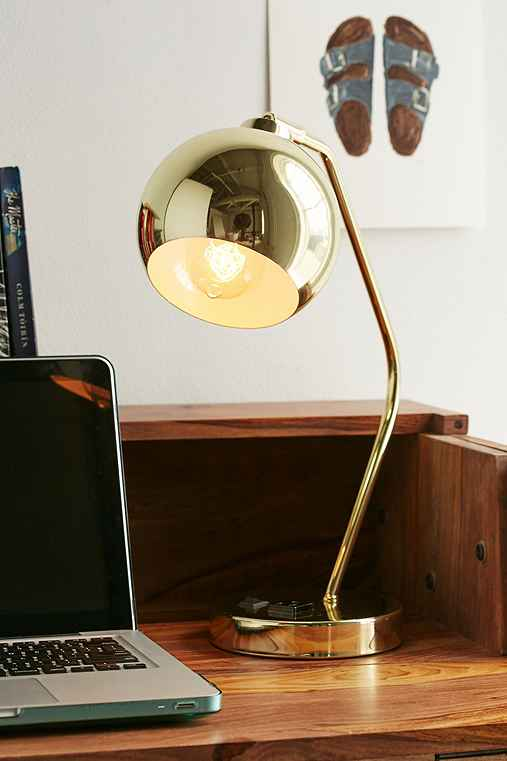 Gumball Desk Lamp,GOLD,ONE SIZE