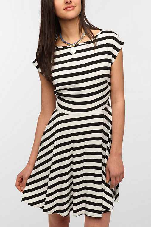 BB Dakota Striped Zamora Skater Dress