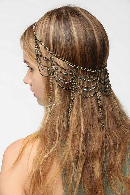 Draped Chain Halo Headwrap