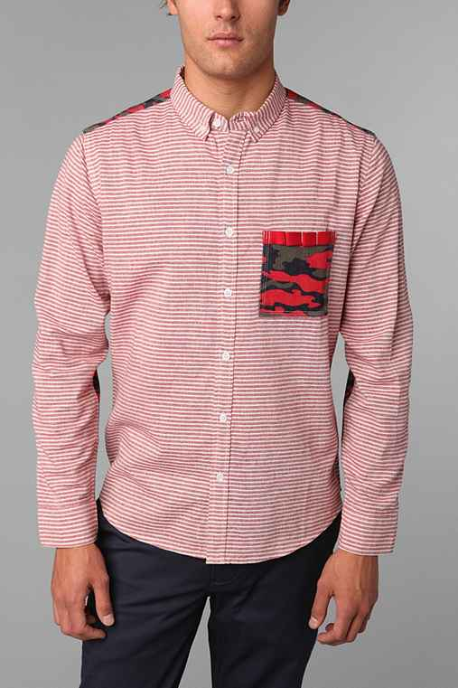 Oxford Lads Red Camo Shirt