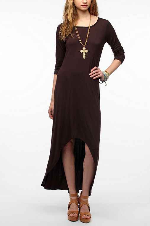 Out From Under Long-Sleeve High/Low Maxi Dress