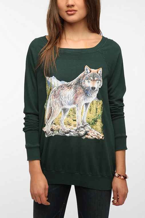 Truly Madly Deeply Animal Graphic Pullover Sweatshirt