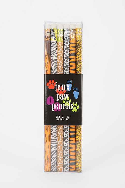 Faux Paw Pencil - Pack Of 12