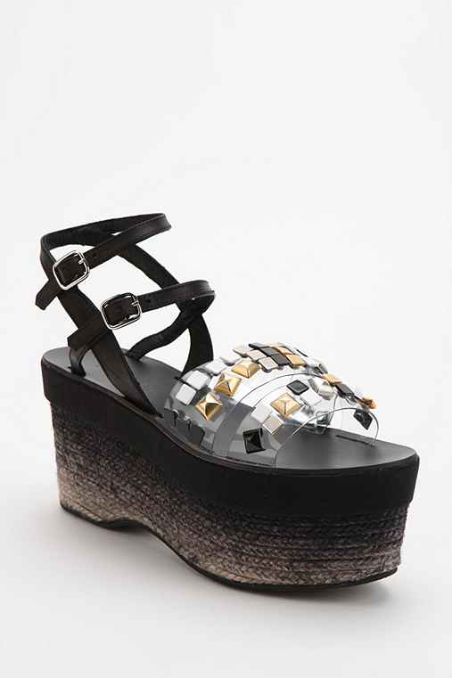 Miista Tori Ankle-Wrap Platform Wedge