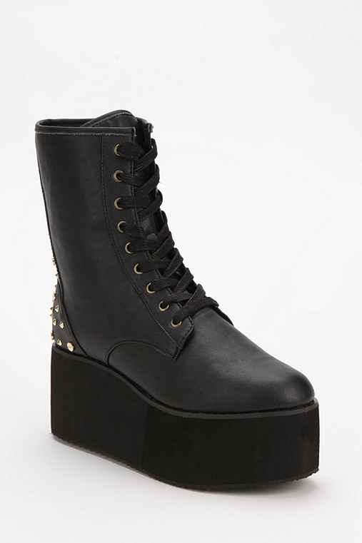 Y.R.U. Bloq Spike Lace-Up Flatform Boot
