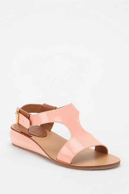 Kelsi Dagger Galina Patent Mini-Wedge Sandal