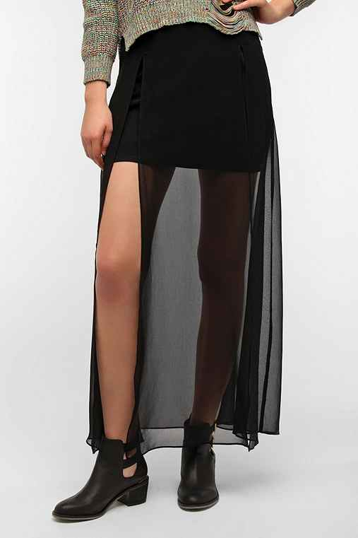 Staring at Stars Double Slit Maxi Skirt