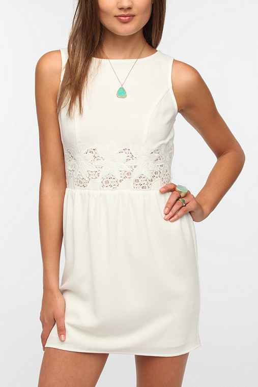 Pins And Needles Crepe Lace Waist Dress