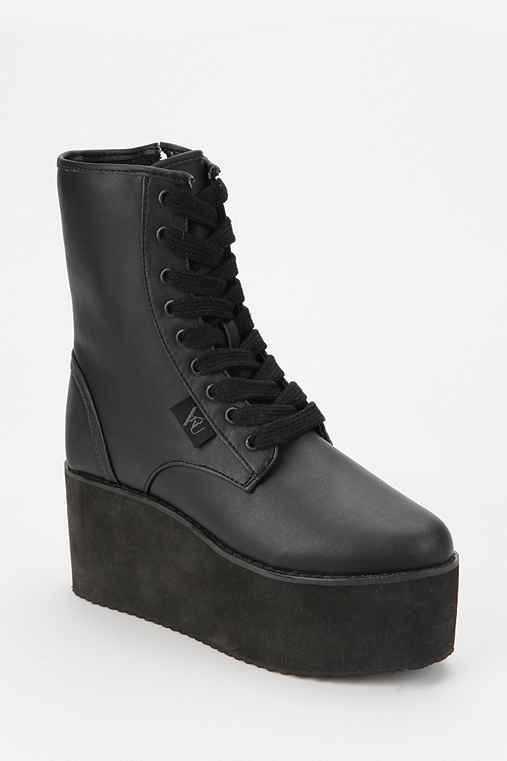 Y.R.U. Bloq Lace-Up Flatform Boot