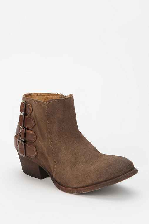 H By Hudson Buckle-Strap Ankle Boot